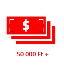 Ajándék 50000Ft felett