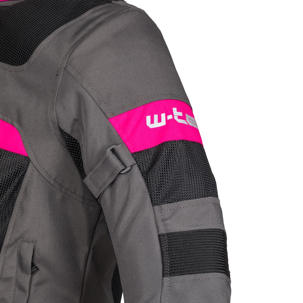Női nyári motoros kabát W-TEC Monaca - Fekete Háló-Rózsaszín. Kényelmes ... a3e94ca63d