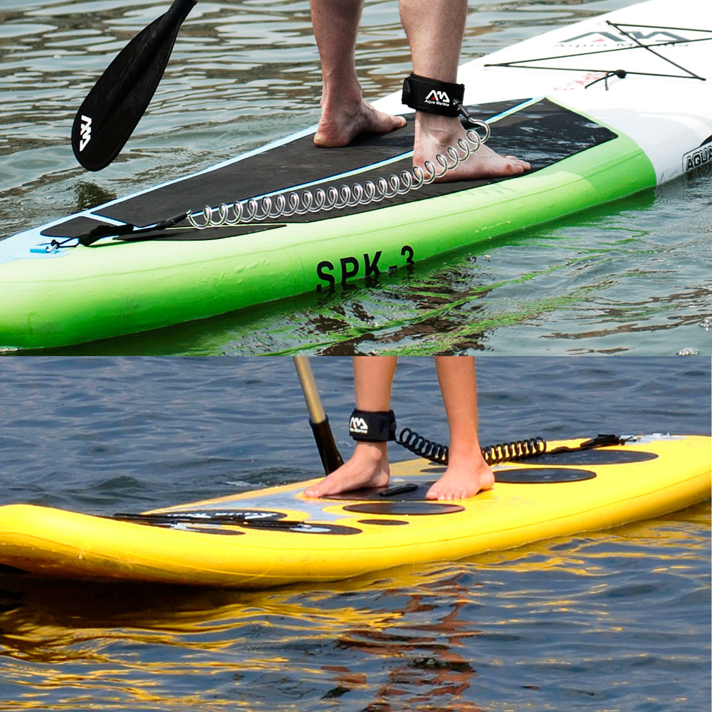 paddle board leash aqua marina coil fekete insportline. Black Bedroom Furniture Sets. Home Design Ideas