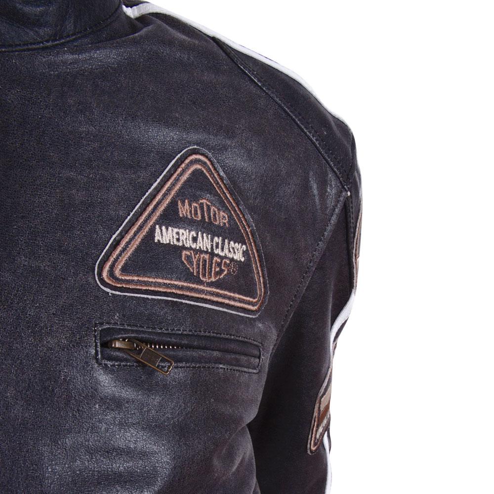 Motoros bőrkabát BOS 2058 fekete inSPORTline