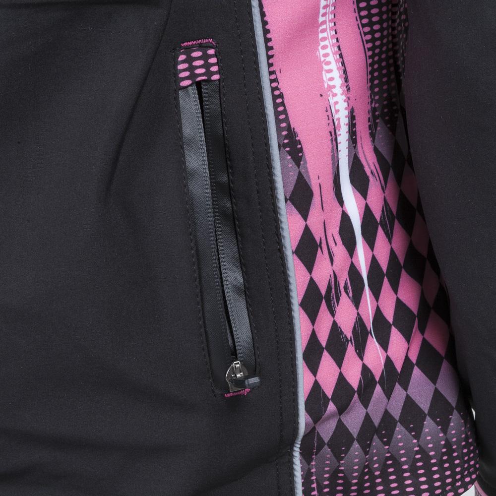 Női oftshell Motoros Kabát W Tec Nf 2781 Fekete Rózsaszín