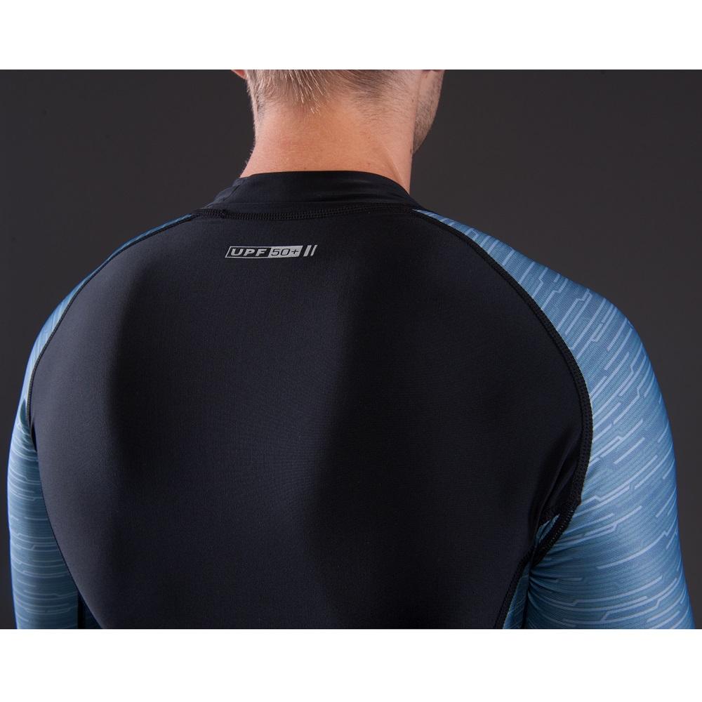 Férfi hosszú ujjú póló vízi sportokhoz Aqua Marina Division - szürke ... 15108f75b3