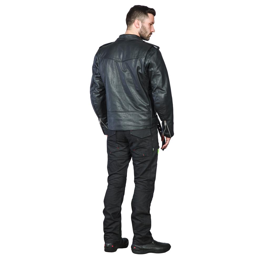 Férfi bőr motoros kabát W TEC NF 1127 inSPORTline