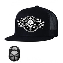 Baseball sapka BLACK HEART Flag Trucker - fekete