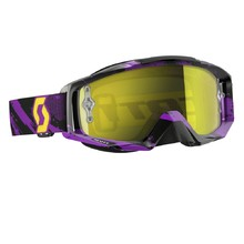 Motocross szemüveg Scott Tyrant MXVI - zebra-purple-yellow-yellow chrome