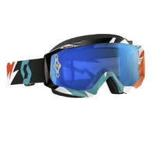 Motocross Scott Hustle MXVI - cracked-orange-turquoise-electric blue chrome