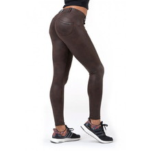 Női leggings Nebbia Leather Look Bubble Butt 538 - Barna