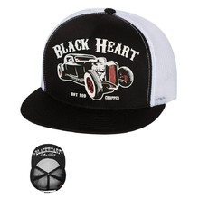 Baseball sapka BLACK HEART Rat Rod Trucker - fehér