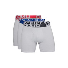Férfi boxeralsó Under Armour Charged Cotton 6in 3 pár - Mod Gray Medium Heather