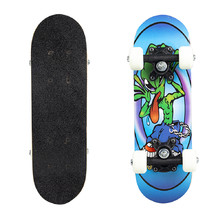 Skateboard Mini Board - Alien On Blue