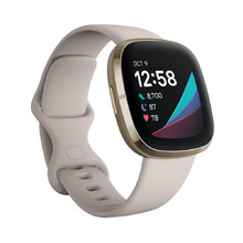 Okosóra Fitbit Sense White/Soft Gold Stainless Steel