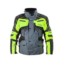 f1bcdb6f8c Motoros kabát W-TEC Astair - fekete-szürke-zöld