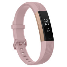 Fitbit Alta HR Pink Rose Gold fitness karkötő Small