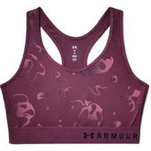 Női sportmelltartó Under Armour Mid Keyhole Print - Level Purple