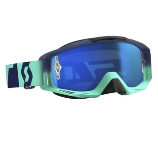 Motocross szemüveg Scott Tyrant MXVI - oxide turquoise-blue-electric blue chrome