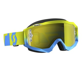 Motocross Scott Hustle MXVI - oxide blue-green-yellow chrome