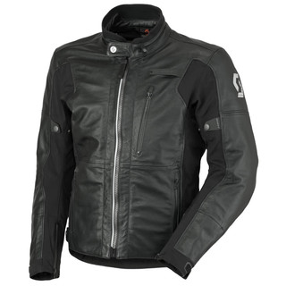 Motoros bőrkabát Scott Tourance Leather DP - fekete