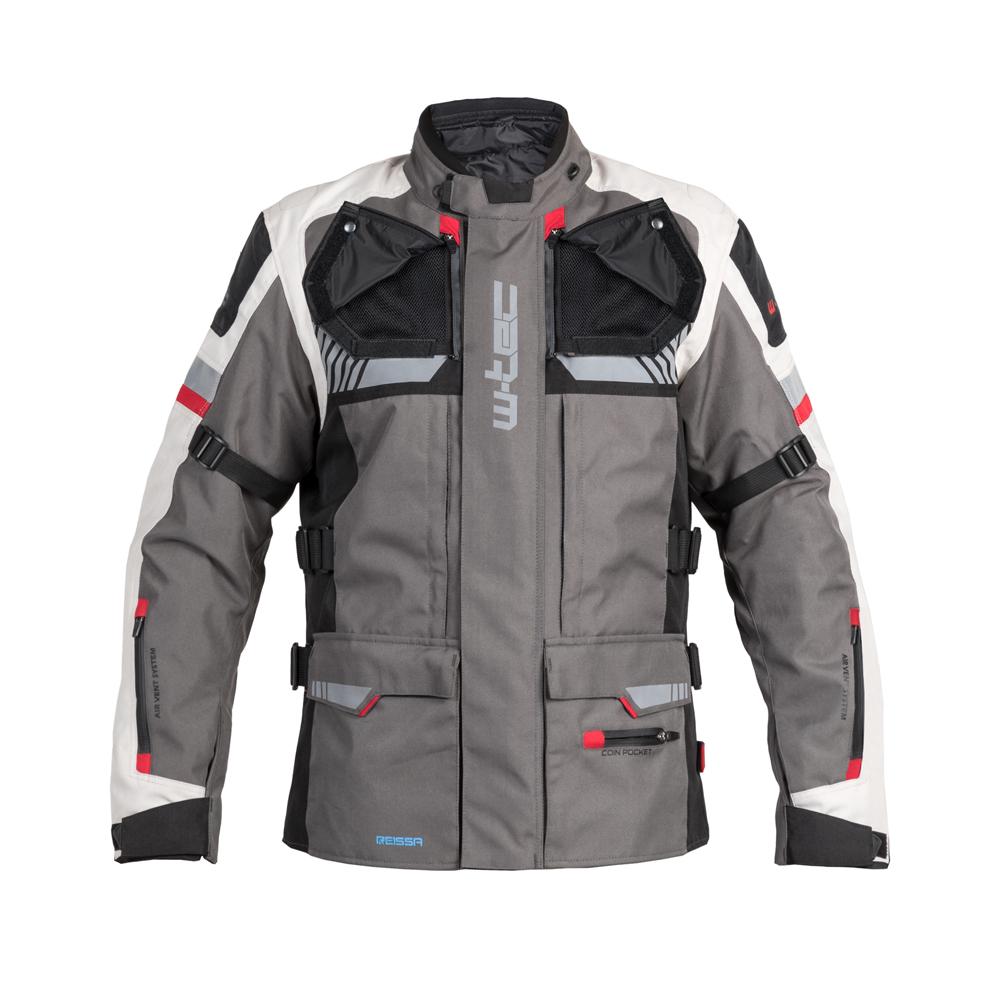 d00a1e76a1 Touring motoros kabát W-TEC Excellenta - Vihar szürke - inSPORTline